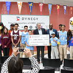 052217  Wesley Bunnell | Staff  Energy company Dynegy visited CREC Academy of Science & Innovation to present a donation for 0,000 for CREC athletics. Executive V.P. of Operations Marty D ...