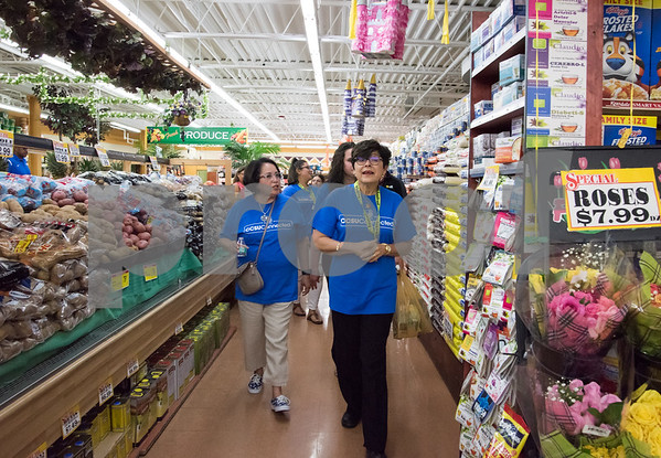 09/13/17 Wesley Bunnell | Staff CCSU students and faculty including President Dr. Zulma Toro toured downtown New Britain Wednesday afternoon on a listening tour with local business on their views of CCSU's interactions with the city. CCSU President Dr. Zulma Toro takes a tour through C-Town Supermarket.