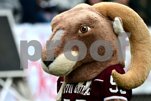 11/24/2016 Mike Orazzi | Staff Bristol Central's Ram mascot during the annual Battle for the Bell at Muzzy Field Thursday.