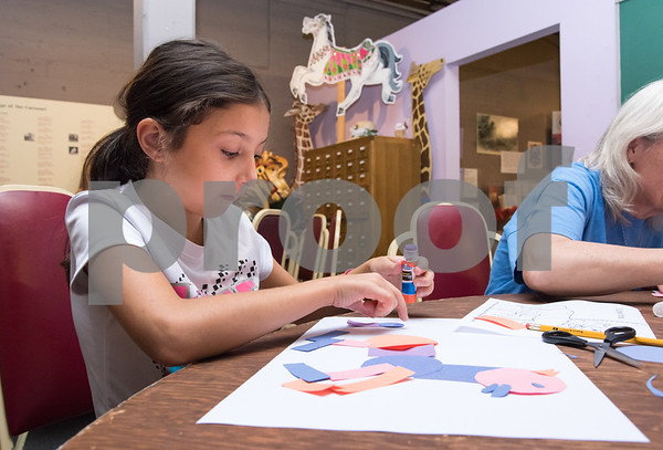 09/18/17 Wesley Bunnell   Staff The Bristol Carousel Museum is holding Fun with Carousel Animal Drawing on Monday nights through October 16th. Gianna Botto, age 9 puts the finishing pieces on her horse.