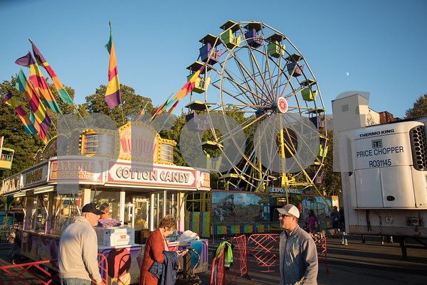 09/29/17 Wesley Bunnell | Staff Children's rides are shown at the 49th Annual Southington Apple Harvest Festival which kicked off on Friday night with the festival running through October 8th.