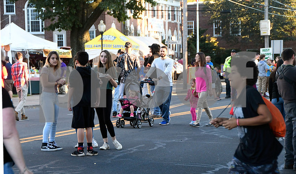9/29/2017 Mike Orazzi | Staff The 49th Annual Apple Harvest Festival in downtown Southington Friday night.