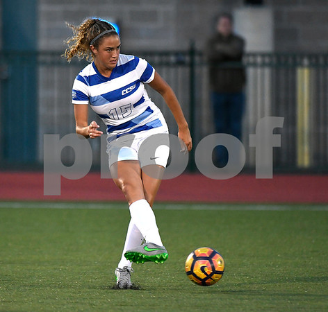 9/1/2017 Mike Orazzi   Staff CCSU's Nicole Russell (15) during the CCSU Soccer Tournament in New Britain Friday night.