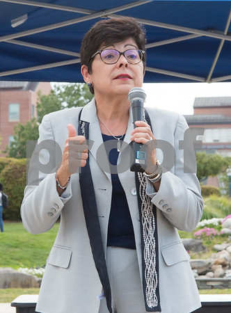 09/14/17 Wesley Bunnell | Staff A rally was held at CCSU on Thursday afternoon in support of DACA. the Deferred Action for Childhood Arrivals policy was established by the Obama administration in June 2012 and recently rescinded by the Trump administration. CCSU President Dr. Zulma Toro.
