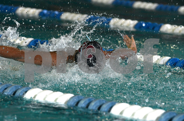 9/19/2017 Mike Orazzi | Staff Bristol Central's Mackenzie Pina during Tuesday's swim meet with Newington in Bristol.