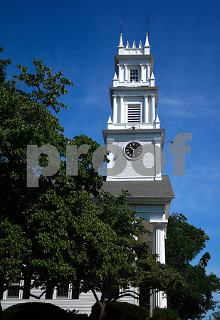 8/7/2015 Mike Orazzi | Staff The First Congregational Church on the Federal Hill Green in Bristol.