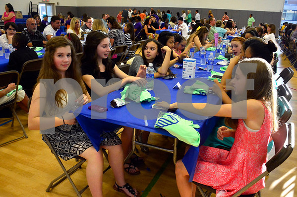 5/19/2015 Mike Orazzi | Staff The Bristol Boys & Girls Club's 74 Annual Recognition Dinner inside the Fiondella Field House Wednesday night.