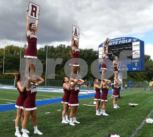 9/9/2017 Mike Orazzi | Staff Fordham University Cheerleaders during Saturday's football game with CCSU in New Britain.