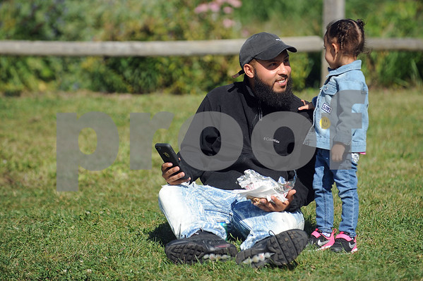 9/9/2017 Mike Orazzi | Staff William Ruiz and his daughter Ava during the Main Street USA Festival held in Walnut Hill Park in New Britain Saturday.