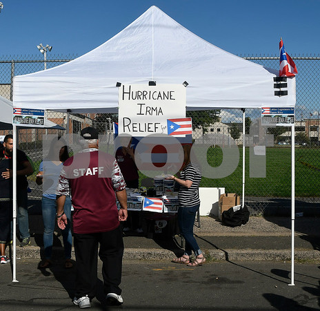 9/9/2017 Mike Orazzi | Staff Collections for Hurricane Irma at the Puerto Rican Festival held on High Street in New Britain Saturday.
