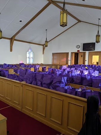 Bags of food at God's Grocery Store -God's Grocery Store