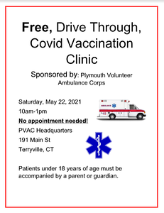 bristol-health-plymouth-volunteer-ambulance-corps-to-offer-a-drivethru-vaccination-clinic