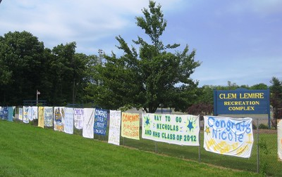 tradition-continues-newington-seniors-families-can-hang-graduation-banners-at-clem-lemire-complex