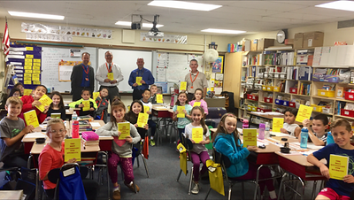 rotary-delivers-dictionaries-to-newington-thirdgraders