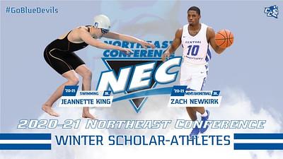 king-newkirk-named-nec-winter-scholarathletes-of-the-year