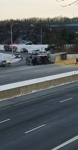 overturned-tractor-trailer-spills-grain-on-i84-in-southington