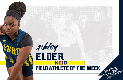 elder-honored-as-northeast10-conference-womens-field-athlete-of-the-week-following-record-throws