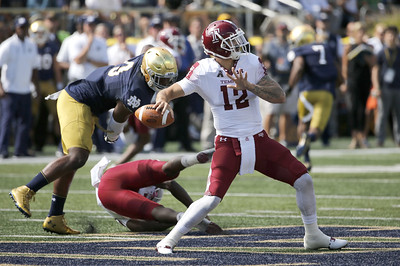 former-st-paul-quarterback-marchi-falls-to-notre-dame-in-first-collegiate-start-with-temple