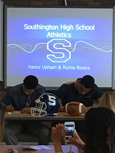 southington-footballs-upham-rivera-sign-to-play-at-scsu-together